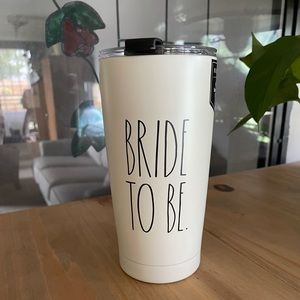 Rae Dunn BRIDE TO BE cup with lid